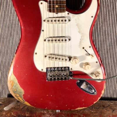 RebelRelic Strat inspired 62 2012 Candy apple red for sale
