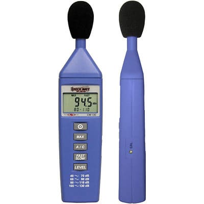 Galaxy CM-130 Check Mate 130 Battery Operated SPL Meter - Blue for sale