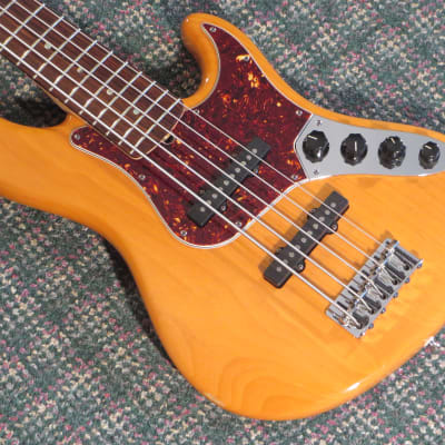 2008 Fender American Deluxe Jazz Bass V Amber! w/OHSC for sale