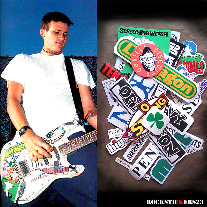 Tom Delonge Stickers Guitar Fender Stratocaster Decal