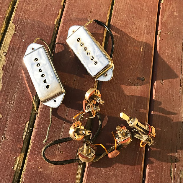 1966 Epiphone Gibson ES-330 Wiring Harness P-90 Pickups Pots on