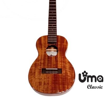 Uma Taiwan Classic SC All Solid Acacia Koa concert ukulele with gloss