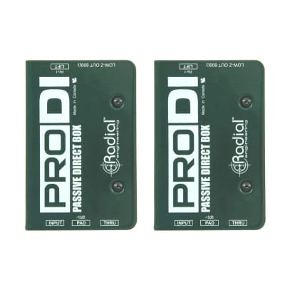 Radial Engineering ProDI Single Channel Passive Direct Box Pair (2)