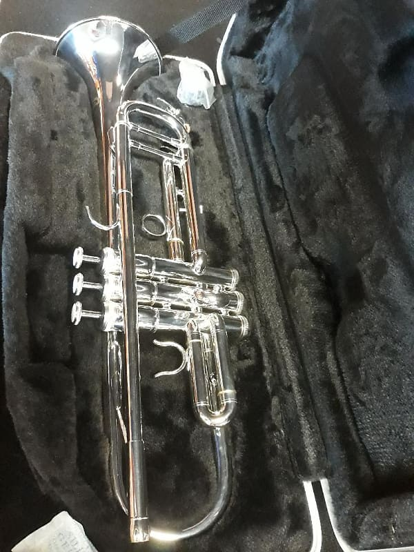 Hunter 6418MS Bb Silver Plated Trumpet With Case | Reverb