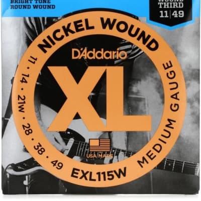 D'Addario EXL115W Wound Third Electric Guitar Strings 11-49