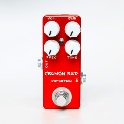 Mosky Audio Crunch Red Distortion Guitar Effect Pedal True Bypass