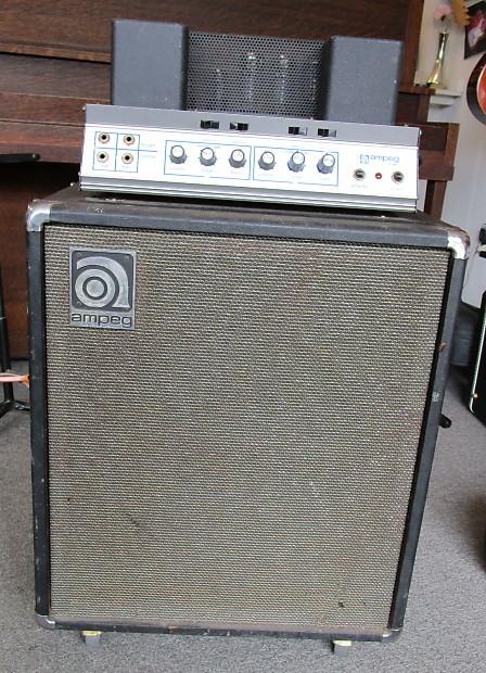 '69 Ampeg B-15N Portaflex Bass FlipTop Amp, Linden NJ-made, new caps/tubes,  amazing tone!