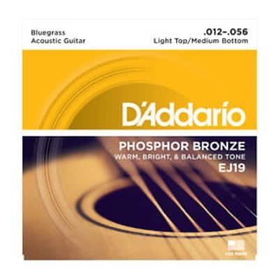 D'Addario EJ19 Acoustic Strings 12-56