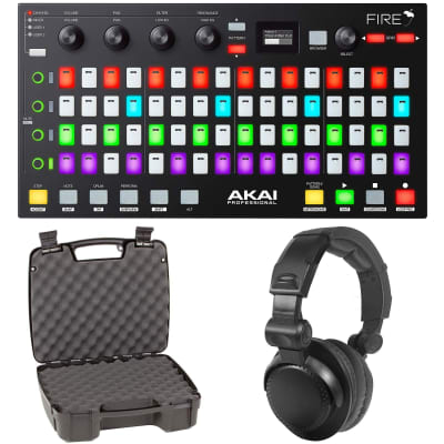 Akai Fire FL Studio Controller w/ Fruity Edition Software+Headphones & Case
