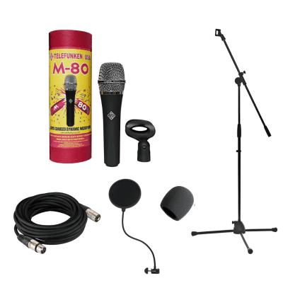 Telefunken Elektroakustik M80 Standard Handheld Supercardioid Dynamic Microphone Recording Bundle