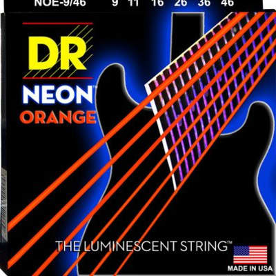 DR NOE-9 Neon Orange Electric String Set, 9-42