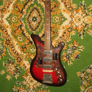 AELITA 230 BL RARE Soviet Vintage Electric Guitar USSR Russia 1980 URAL for sale