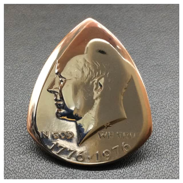 1976 Kennedy USA Half Dollar Coin Plectrum / Guitar Pick. image