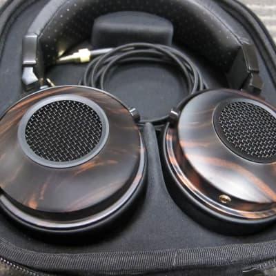 KLH Ultimate One Top Line Headphones Pure Beryllium Drivers, Real Wood, Exellent Sound, Comfortable, Pristine 2021 Wood/Black