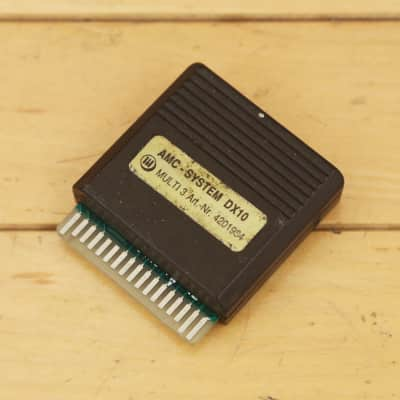 1980s Yamaha AMC DX 10 RAM Data ROM Card, DX1, DX5, DX7 Synthesizers Vintage Synth Sounds Cartridge