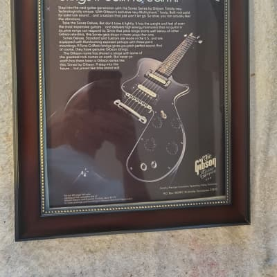 1980 Gibson Guitars Color Promotional Ad Framed Gibson Sonex Original