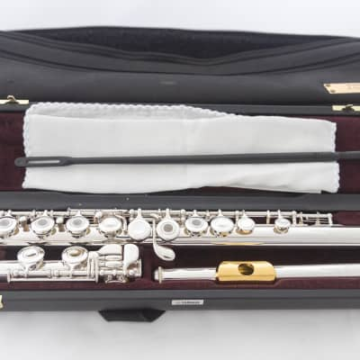 Yamaha YFL-471 Allegro All Silver Intermediate Flute *Open-hole *Low-B *Cleaned & Serviced