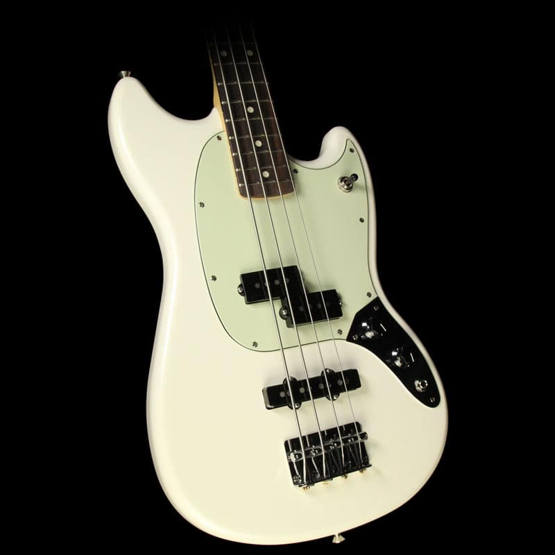 fender mustang bass pj electric bass olympic white reverb. Black Bedroom Furniture Sets. Home Design Ideas