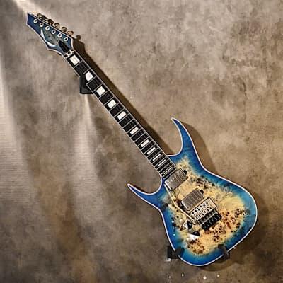 Dean Left handed Exile Select FR Poplar Burl  2020 Satin Turquoise Burst Lefty Guitar