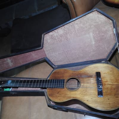 1853 James Ashborn Style 2 guitar In good condition with original coffin case. for sale
