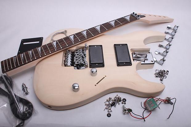 byoguitar unfinished electric guitar kit js style reverb. Black Bedroom Furniture Sets. Home Design Ideas