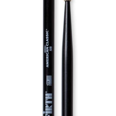 Vic Firth American Classic 5B Black Wood Tip Drum Sticks