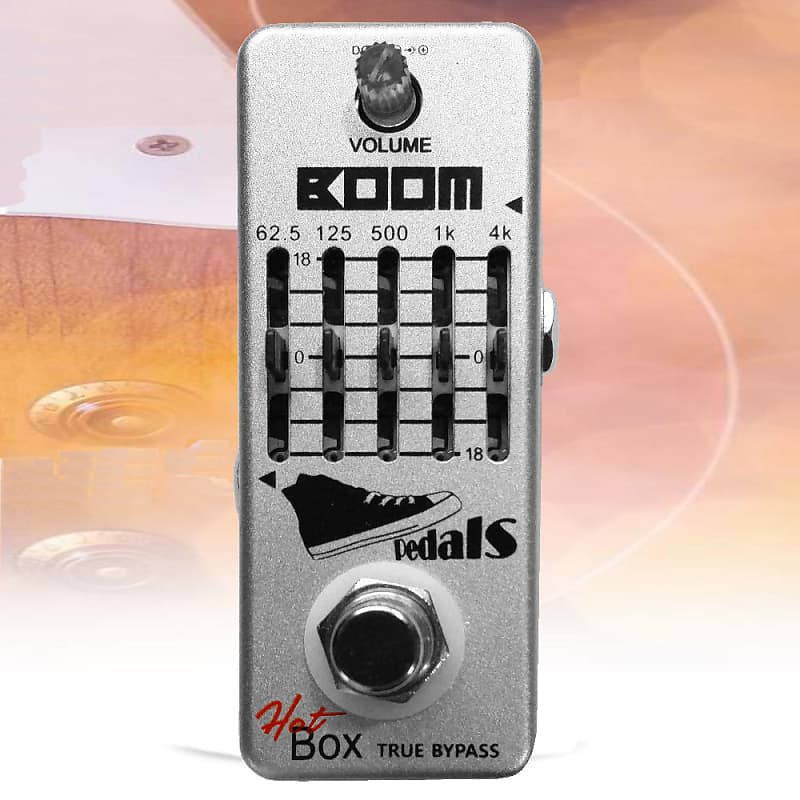 Hot Box Pedals Boom 5-band Bass Graphic Equalizer Attitude Series Pedal  True Bypass New
