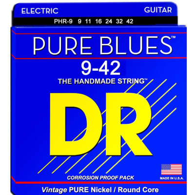 DR Pure Blues PHR-9 Electric Guitar Strings