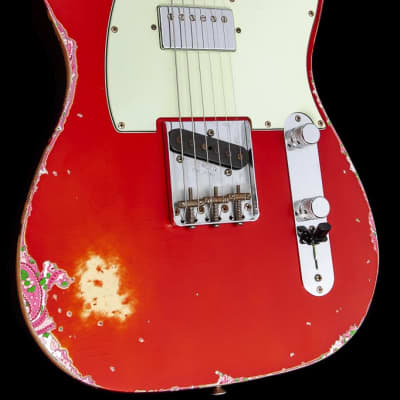 Fender Custom Shop '60s HS Telecaster Relic Ltd. 2016 Candy Apple Red over Pink Paisley for sale