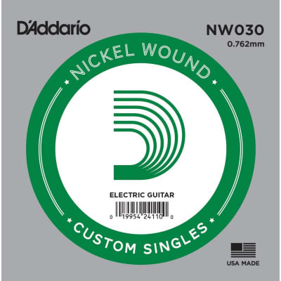 D'Addario Nickel Wound Electric Single String NW030