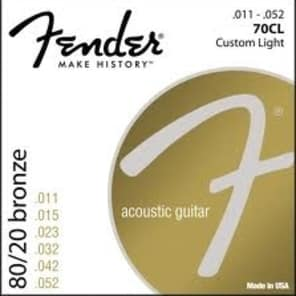 Fender 70CL Bronze Acoustic Strings - 11's for sale
