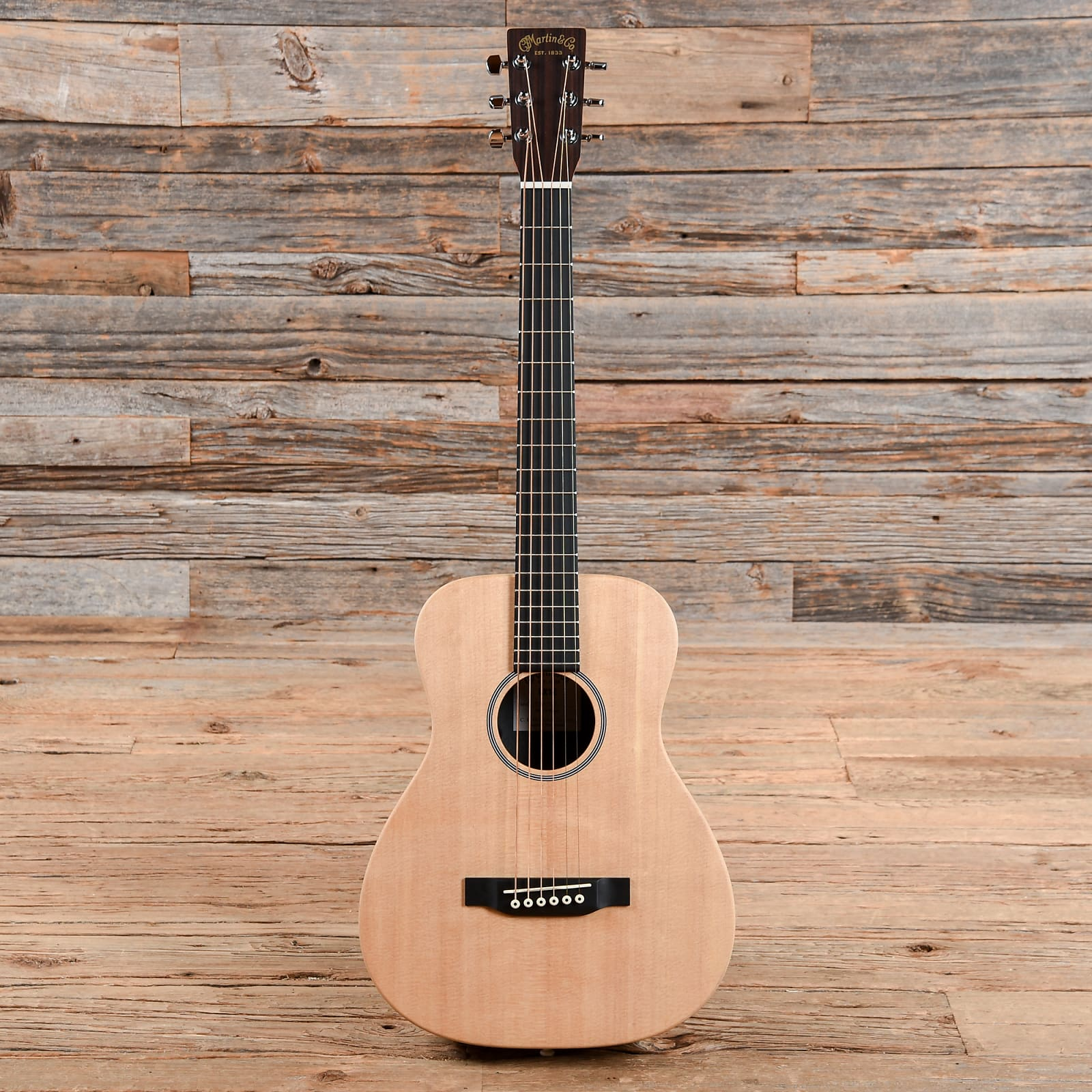Martin Lx1e Little Solid Sitka Spruce Mahogany Acoustic Electric W Gig Bag Used