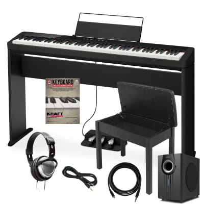 Casio Privia PX-S1000 Digital Piano - Black - Complete Home Bundle Plus Sub