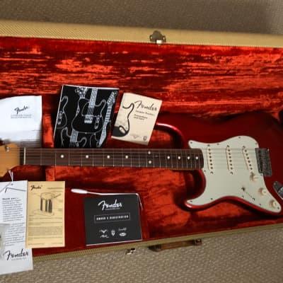 Fender AVRI 1962 '62 Stratocaster Lefty Left handed 1999 Candy Apple Red CAR for sale