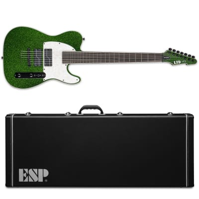 ESP LTD SCT-607 Baritone Green Sparkle Stephen Carpenter 7-String Electric Guitar + Case SCT-607 B for sale