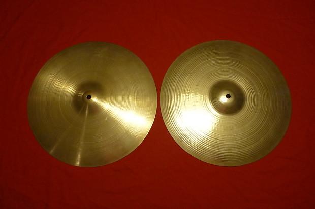 zildjian 15 39 39 new beat hi hat cymbals 70 39 s reverb. Black Bedroom Furniture Sets. Home Design Ideas