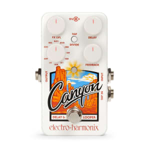Electro-Harmonix EHX Canyon Delay and Looper Pedal Reverb w/ Tap Tempo