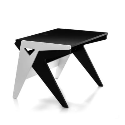 Zaor Vision-OS Flat Surface Workstation Studio Desk - Black and White
