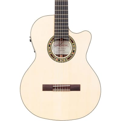 Kremona F65CW Fiesta Cutaway Acoustic-Electric Classical Guitar Regular Natural for sale