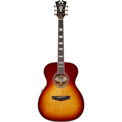 D'Angelico Premier Tammany Iced Tea Burst Electro-Acoustic Guitar for sale