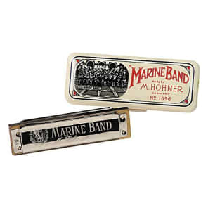 Hohner 1896BX-BN Marine Band 1896 Classic Harmonica - Key of B