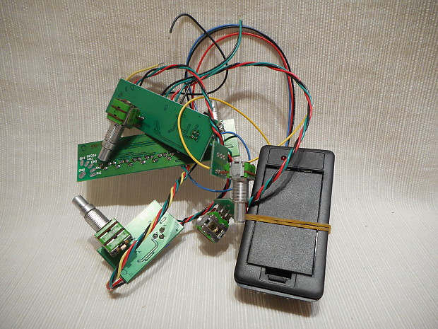 Fishman Piezo Active Wiring Harness Circuit Board From Washburn Usa Custom  Shop 15 Years Old