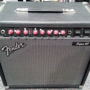 "Fender Super 60 2-Channel 60-Watt 1x12"" Guitar Combo 1988 - 1992"