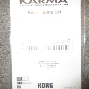 Used Korg  Karma Music Workstation Owner's Manual