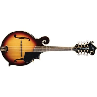 Washburn Americana Series M3SWK  F  Style Mandolin with Carved Solid Spruce Top, Solid Maple Back and Sides, 24 Frets, Maple Neck, Gloss, Sunburst