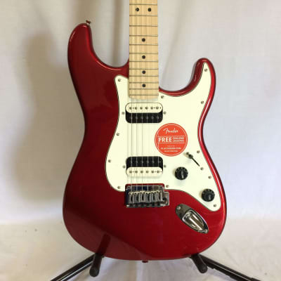 Squier 0370222525 Contemporary Stratocaster® HH, Maple Fingerboard, Dark Metallic Red - Return