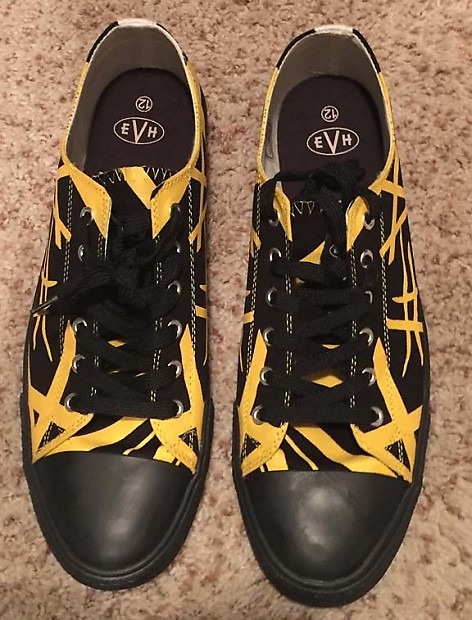 a33913d8f039fe EVH low top athletic shoes Yellow   Black Size 12
