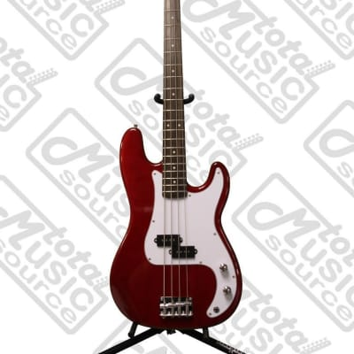 Oscar Schmidt by Washburn P-Style Electric Bass Guitar, Trans Red, OSB-400C TR for sale