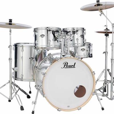 Pearl Export EXX 5-Piece Drum Set With Hardware Mirror Chrome