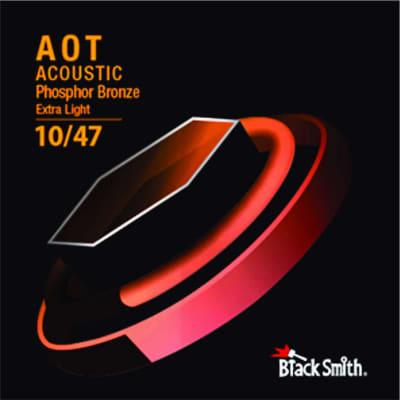BLACKSMITH Acoustic 6 String Set, Nano-Carbon Coated Phosphor Bronze - Extra Light 010 - 047